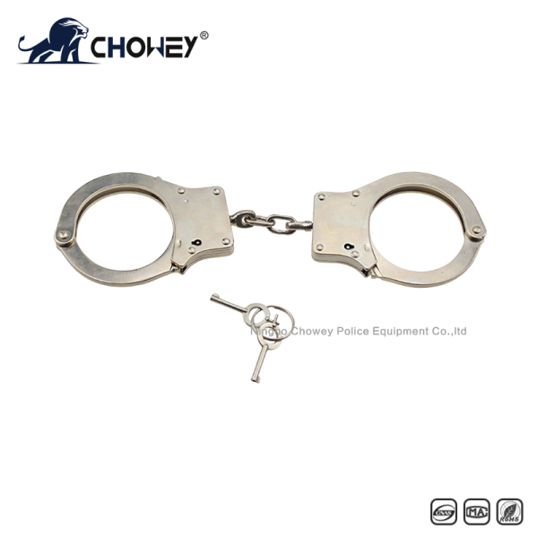Nickel plated carbon steel handcuffs HC0090