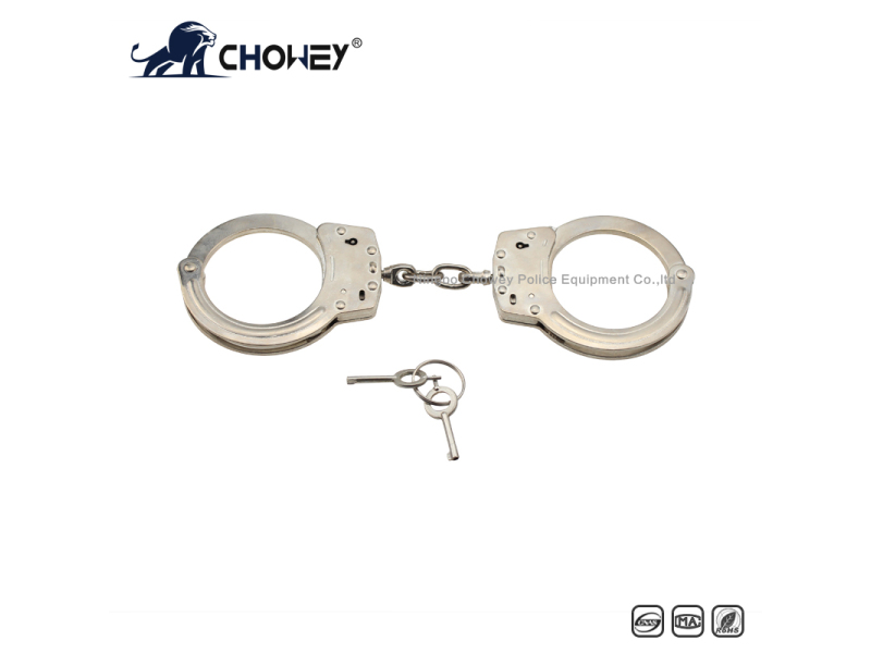 Nickel plated carbon steel handcuffs HC0211