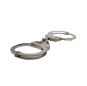 Nickel plated carbon steel handcuffs HC0840