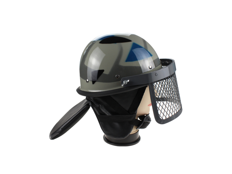 Military Anti Riot Control Helmet AH1084 with metal grid