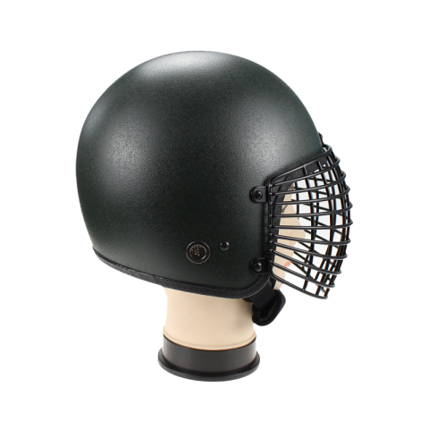 Military Anti Riot Control Helmet AH1210 with metal grid