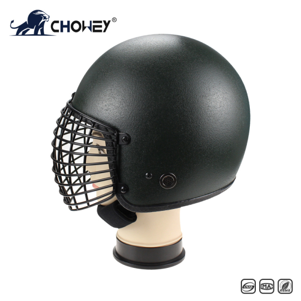 Military Anti Riot Control Helmet AH1210 with metal grid
