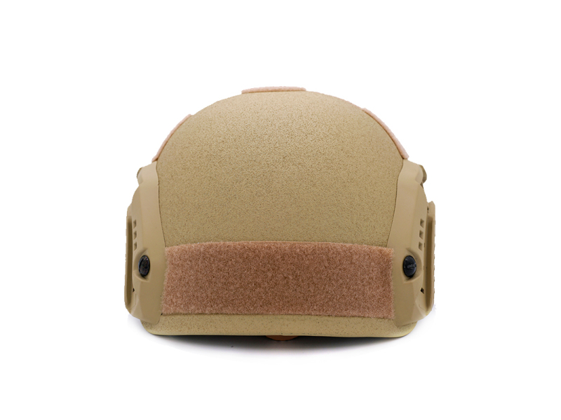 Military Bulletproof Helmet with Rail Khaki FAST style BH1869