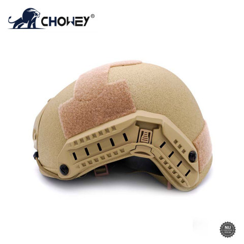 Military Bulletproof Helmet with Rail Khaki FAST style BH1869
