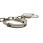 Nickel plated carbon steel handcuffs and legcuffs 2 in 1 FT0366