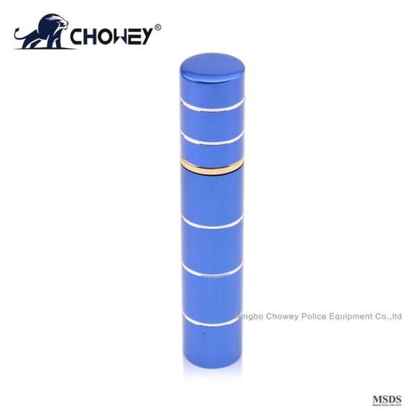 Lipstick type pepper spray PS08M076 for self defense blue