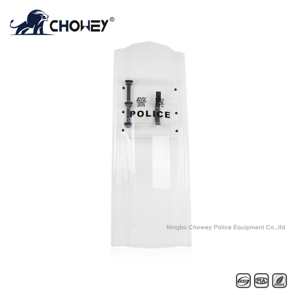 1.6m Extra Long Polycarbonate Anti Riot Shield with Baton Holster Available AS2036