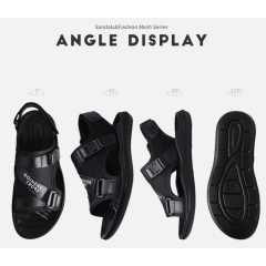 Summer's new men's sandals, open-toed leather beach shoes