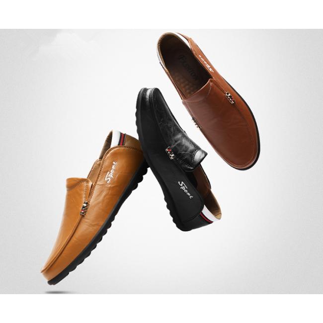 Men's business driving shoes leather doudou shoes men's Korean version of versatile casual shoes