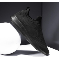 New men's trend round head casual men's sports wind single shoes sleeve mesh breathable flat with men's shoes