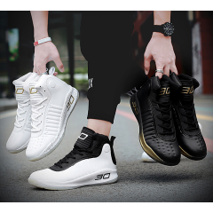 Couple sports shoes high to help men's shoes wear-resistant breathable Curry boots casual basketball shoes