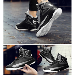 Basketball shoes couple with non-slip wear-resistant men's shoes Increase thick platform high-top sneakers student casual shoes