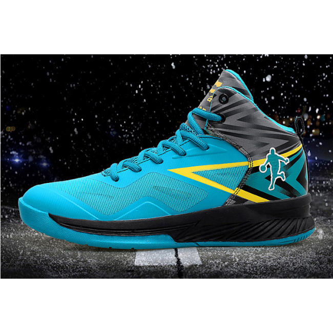Basketball shoes high to help men's shoes wear-resistant breathable increase student graffiti combat sports shoes