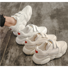 2019 spring new sports style casual white shoes female Korean version of the love bear shoes