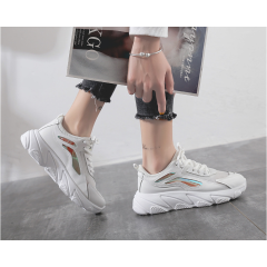 shoes female 2019 summer new Korean version of the wild ins super fire cake shoes mesh breathable hollow sports shoes