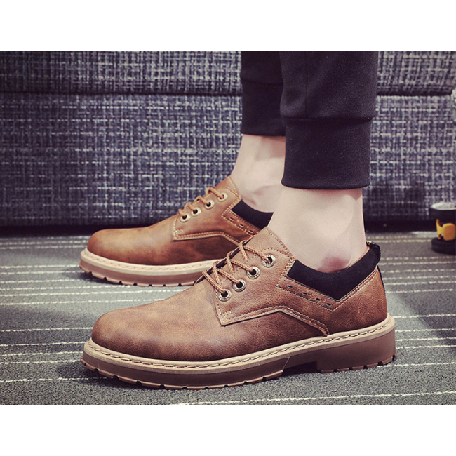 New men's shoes British retro tooling men's boots outdoor casual shoes big shoes
