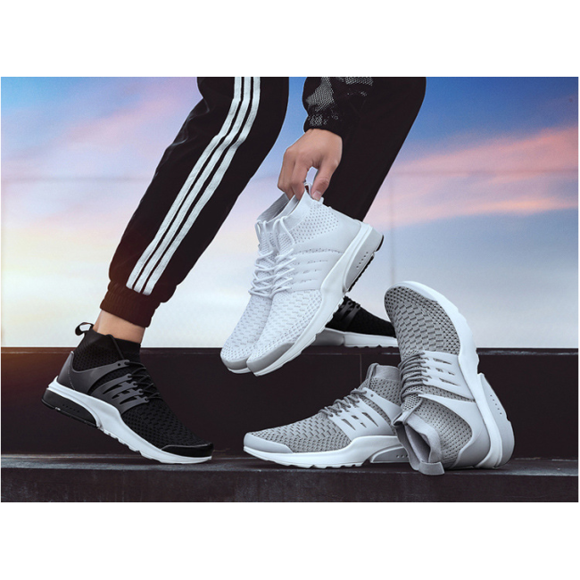 New socks shoes fashion flying woven breathable sports men's shoes presto casual shoes