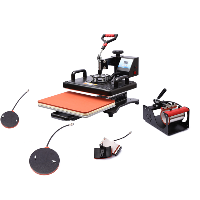 5 in 1 combo heat press machine ( pull and push)