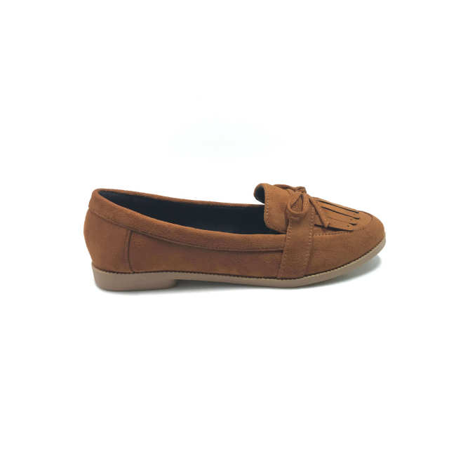 Tassel suede loafers brown