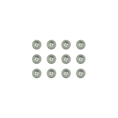 WWII German aluminum dish buttons 17mm (12 PCS)