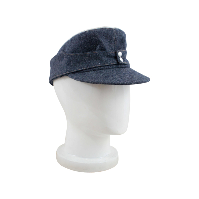 WWII German Luftwaffe Officer M43 Field Cap blue grey