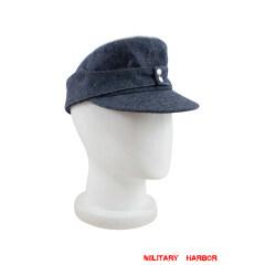 WWII German Luftwaffe Officer M43 Field Cap blue grey