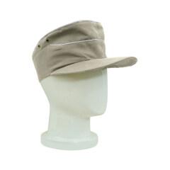 WWII German Heer summer HBT Officer service cap off white
