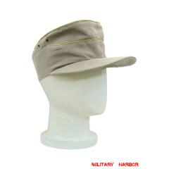 WWII German Heer summer HBT General service cap off white