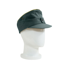 WWII German M44 Heer summer HBT General field cap reed green