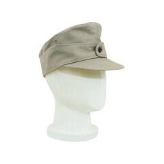 WWII German M44 Heer summer HBT EM service cap off white