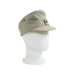 WWII German M44 Heer summer HBT Officer service cap off white
