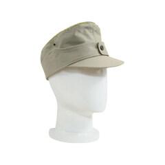 WWII German M44 Heer summer HBT General service cap off white
