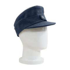 WWII German Luftwaffe Officer M44 Field Cap blue grey