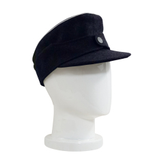 WWII German Kriegsmarine Officer M44 Field Cap Navy blue