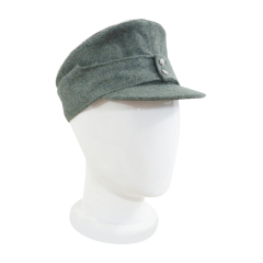 WWII German Mountaineer (Gebirgsjäger) Officer field cap small visor field grey