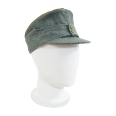 WWII German Mountaineer (Gebirgsjäger) General field cap small visor field grey