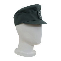 WWII German Mountaineer (Gebirgsjäger) EM Gabardine field cap small visor field grey