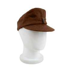 WWII German M43 Politic EM brown wool field cap