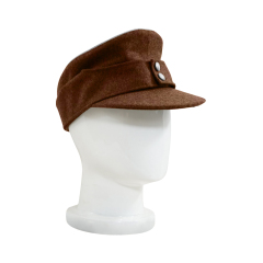 WWII German M43 Politic Officer brown wool field cap