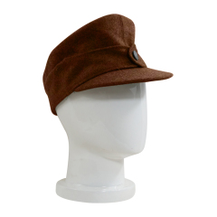 WWII German M44 Politic EM brown wool field cap