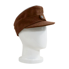 WWII German M44 Politic Officer brown wool field cap