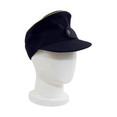 WWII German M44 Kriegsmarine General Gabardine Field Cap Navy blue