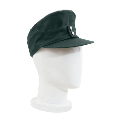 WWII German M43 Heer Officer summer HBT field cap reed green