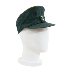 WWII German M43 Heer General summer HBT field cap reed green