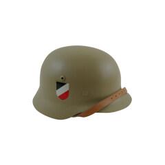 WWII German M35 Helmet Stahlhelm sand yellow