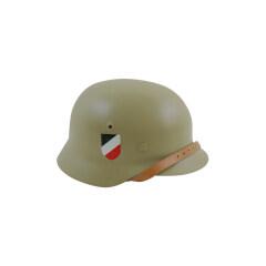 WWII German M40 Helmet Stahlhelm sand yellow