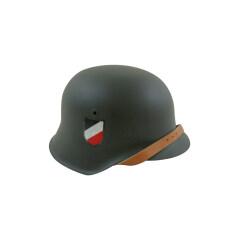 WWII German M42 Helmet Stahlhelm field grey