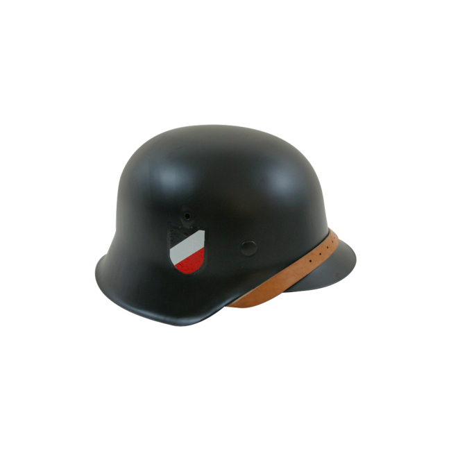 WWII German M42 Helmet Stahlhelm black