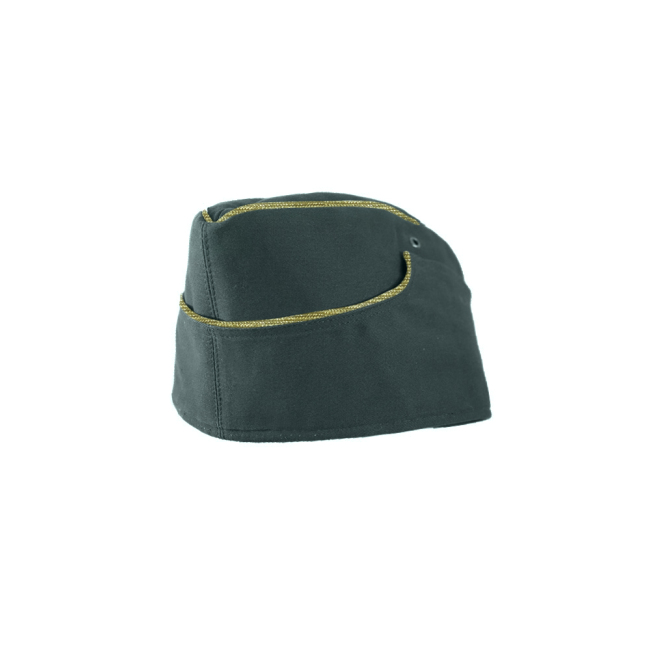 WWII German M38 General summer reed green HBT overseas cap