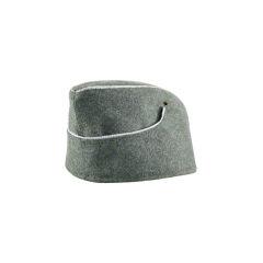WWII German M38 Officer overseas cap field grey